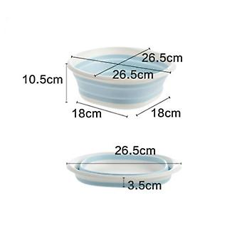 Plastic Folding Portable Wash Laundry Tub Bathroom Kitchen Accessories Travel