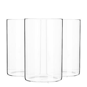 6 חלקים צנצנת אחסון מינימליסטי סט - עגול בסגנון סקנדינבי מיכל זכוכית רב-תכליתי - 1 ליטר