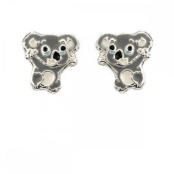 Anfänge Sterling Silber Koala Ohrringe A2047
