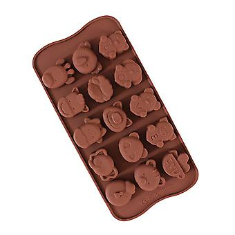 Multi-type Candy Chocolate DIY Molds Kitchen Tools Brown