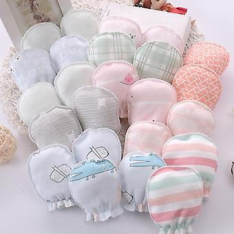 Cotton Baby Anti Scratching Gloves Newborn Protection Face Baby Mittens Infant Accessories