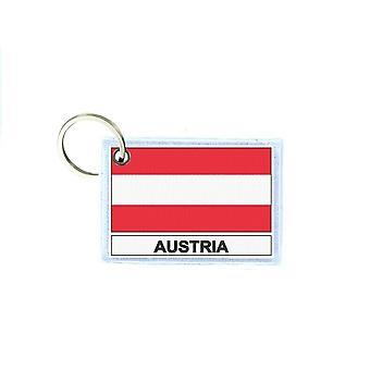 Porte cles cle clefs imprime double face drapeau A Autriche