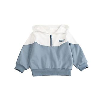 Halve Rits Casual, Hooded Pullover voor baby's