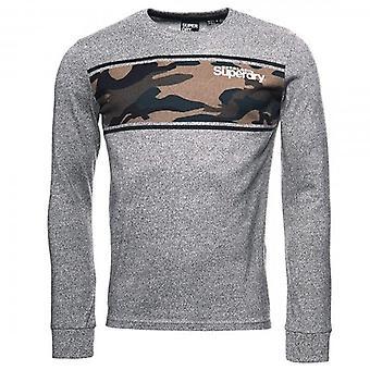 Superdry Core Logo Camo Stripe LS T-Shirt Gris Grit QOG