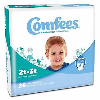 Attends Male Toddler Training Pants Comfees Pull On with Tear Away Seams 2T to 3T Disposable Moderate Absor, Boys 26 Bags
