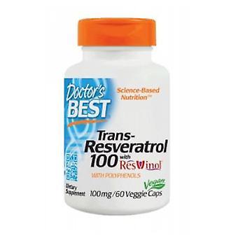 Ärzte Beste Beste Trans Resveratrol 100 mit Resvinol-25, 60 vegetarische Kapseln