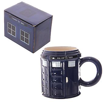 Novelty Ceramic Police Box Mug