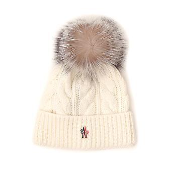 Moncler Grenoble 3b702a0069002 Women's White Wool Hat