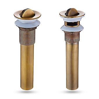 Bathroom Brass Pop Up Sink Basin Drain
