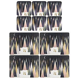 Sara Miller Frosted Pine Placemats and Coasters