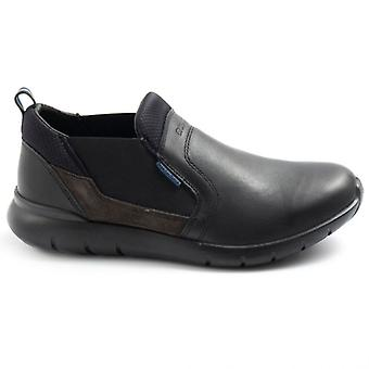 Grisport HerrenSchuh 43816 In schwarzem Leder ohne Schnürsenkel