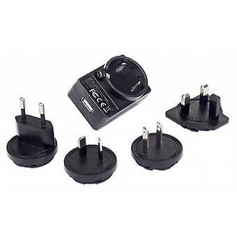 Manhattan 102155 USB charger Mains socket Max. output current 1 A 1 x USB 3.2 1st Gen port A (USB 3.0) incl. AUS adapter, incl. UK adapter, incl. US adapter