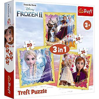 Disney congelato congelato 2 Trefl 3 in 1 puzzle puzzle