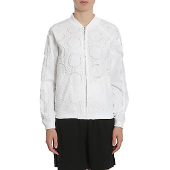 Opening Ceremony S27abb110161000 Women's White Cotton Outerwear Jacket