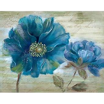 青いケシの詩私なんでポスター印刷