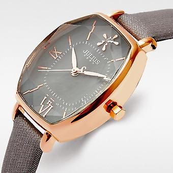 JULIUS 920 Luxury Slim Leather Strap Fashion Ladies Quartz Watch