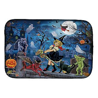 Carolines Treasures PRS4048DDM Littlest Witch's Halloween Party Dish Drying Mat