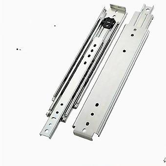 Drawer Heavy Duty Cabinet Slide Rail, 3 Fold Ball Bearing 220 Kg Telescopic