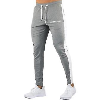 New Men Pants Hip Hop Fitness Vêtements Joggers Sweatpants Side Stripe Classic