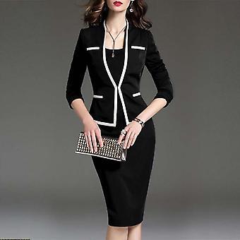 Women's Suit Bodycon 2 kappaletta Set Office Wear Jacket Mekko