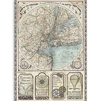 ستامبريا رايس ورقة A4 السير Vagabond خريطة نيويورك
