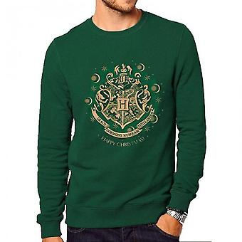 Harry Potter Unisex Voksne Crewneck Sweatshirt Med Christmas Happy Galtvort Design