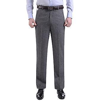 Homens terno calças formal calças de negócios estilo reto