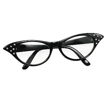 Bristol novelty ba142b glasses 50's female style black, womens, one size