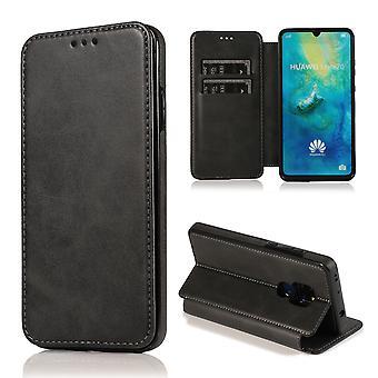H-grunderna mobiltelefon fall för Huawei Mate 20 fall fall täcka – magnetiska lås, stå funktion och kort fack
