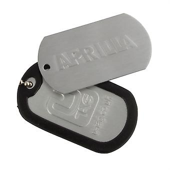Dogtag Keyfob Aprilla - Includes Keychain Neckchain And Damper