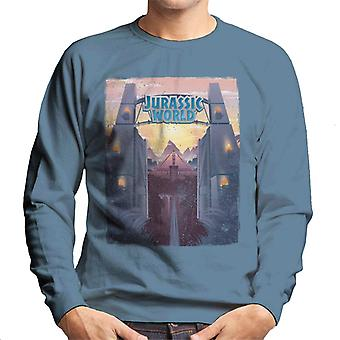 Jurassic Park Welcome To Jurassic World Entrance Men's Sweatshirt