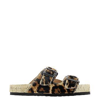 Manebí D62r0 Women's Leopard Pony Skin Sandals