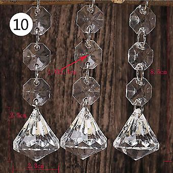 Acrylic Crystal Beads, Drop Shape, Garland Chandelier, Hanging Party  Wedding