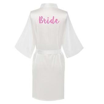 Neue Brautjungfer Robe mit Buchstaben Mutter Schwester der Braut Hochzeit Roben