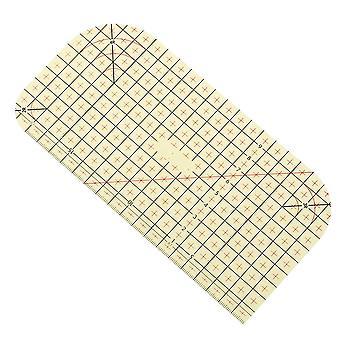 1 stk stryke linjal måleverktøy varmt lappeteppe skreddersy håndverket klut skjæring