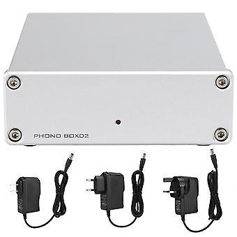FX-الصوت فونو BOX02 LP Preamp مكبر للصوت البيك اب Preamplifier لRCA إخراج الفينيل سجل المنضدة