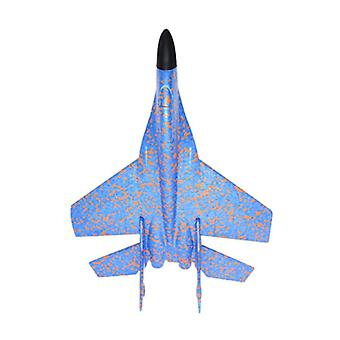 Kids Hand Throwing Model Airplane / Glider Fighter Planes  (blue)