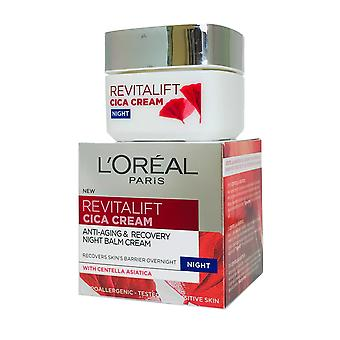 L'Oreal Revitalift CICA Night Balm Cream Anti Aging 50ml with Centella Asiatica