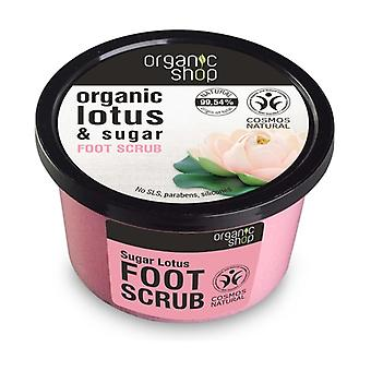Organic Lotus and Sugar Foot Scrub 250 ml