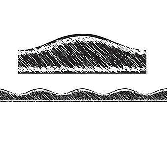 Magnetic Border, Black Scribble Chalk, 12'
