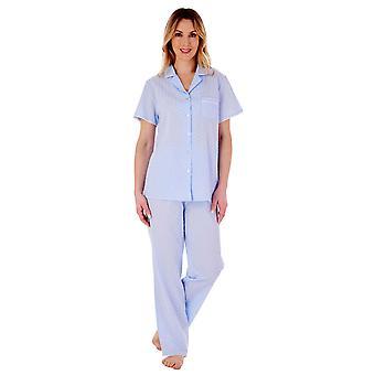 Slenderella PJ77234 Women's Spotted Cotton Pyjama Set
