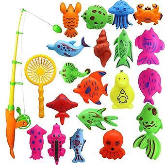 Niños pesca juguete, jugar al bebé del agua, piscina de pescado magnético interior padre-niño juego