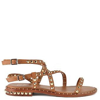 Ash Footwear Petra Studded Leather Sandals Brown