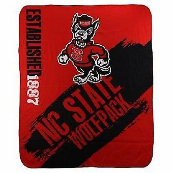 NC State Wolfpack NCAA Northwest Fleece Throw