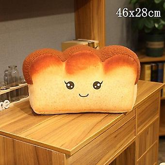 3d plüss puha töltött kenyér élelmiszer párna