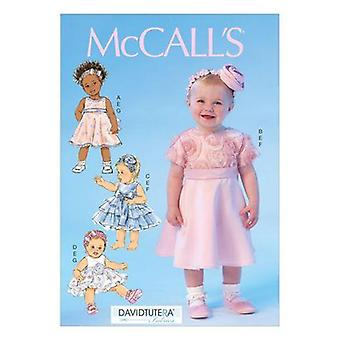 McCalls Naaipatroon 7037 Baby Baby Meisjes Jurk Slipje Maat NBN-XL Uncut
