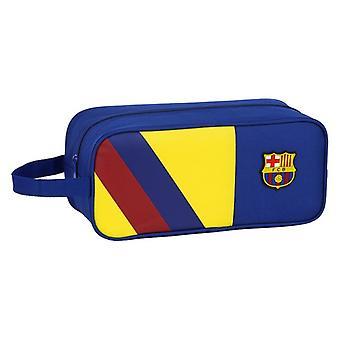 Porte-pantoufles de voyage F.C. Barcelona Blue Polyester