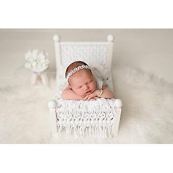 Rekwizyty fotograficzne noworodka, Oryginalna łóżeczko dziecięce, Fotografowanie wspomagane, Lite drewno