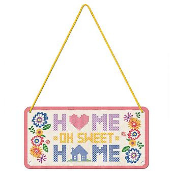 Home Sweet Home Embroidery Theme Hanging Sign
