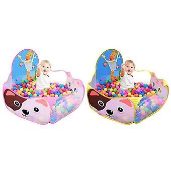 Zagraj w namiot Baby Toys Ball Pool dla dzieci na zewnątrz nadmuchiwane Ocean Balls Pool (różowy)